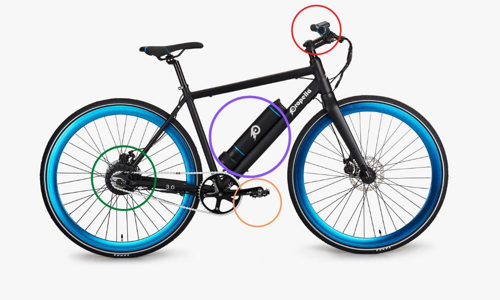 electric bike diagram